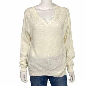 🔴 FINAL PRICE! NEW Magaschoni Lace Sweater Size L